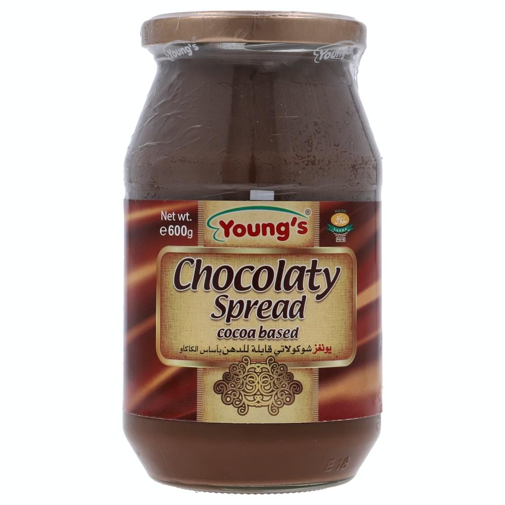 Young's Chocolaty Spread Cocoa Based Jar 600gm