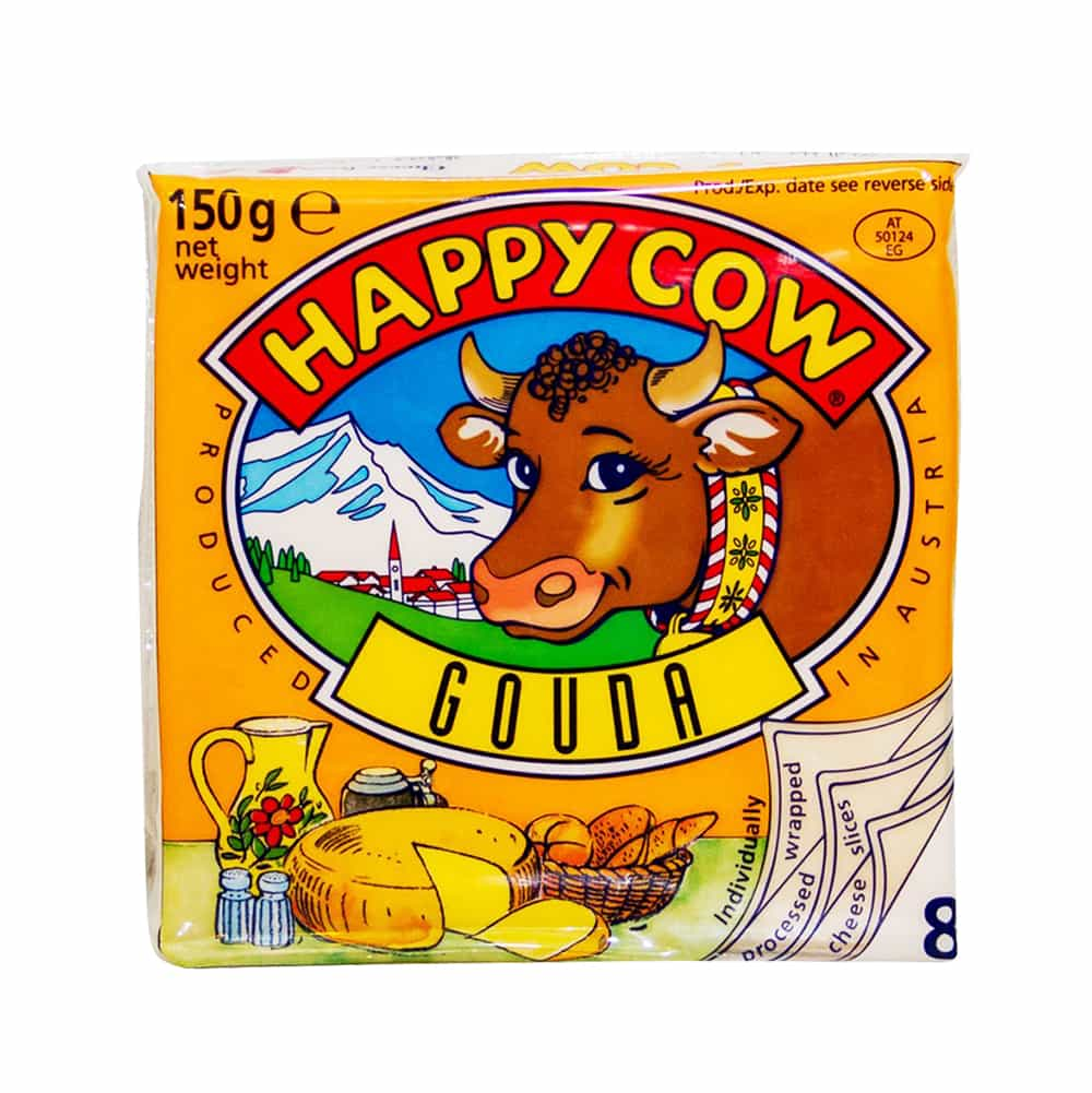 Happy Cow Gouda Cheese 8 Slices 150gm