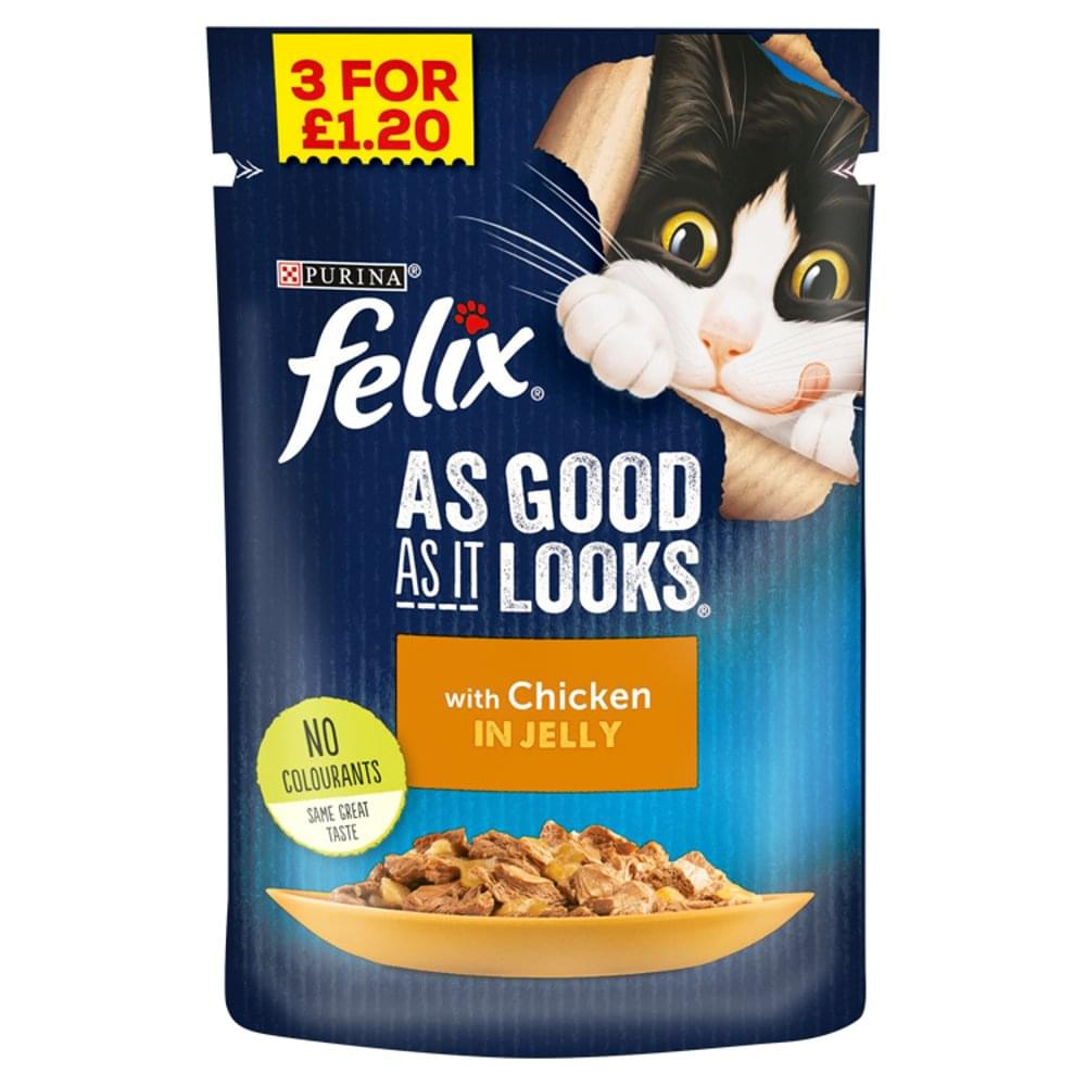 Felix Cat Food Chicken In Jelly Flavour 100g