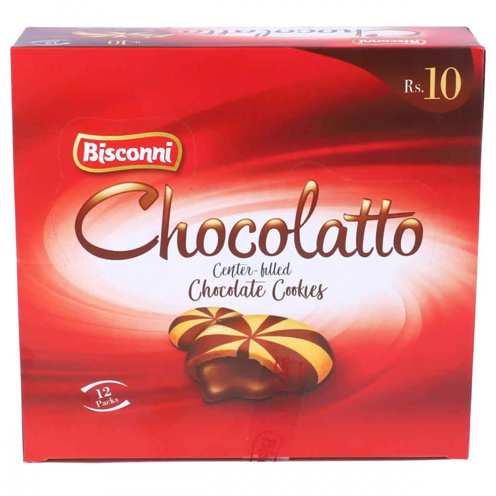 Bisconni Chocolatto Center-Filled Chocolate Cookies 12 Packs