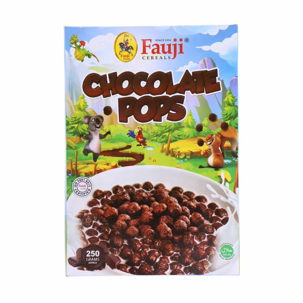 Fauji Cereals Chocolate Pops 250gm