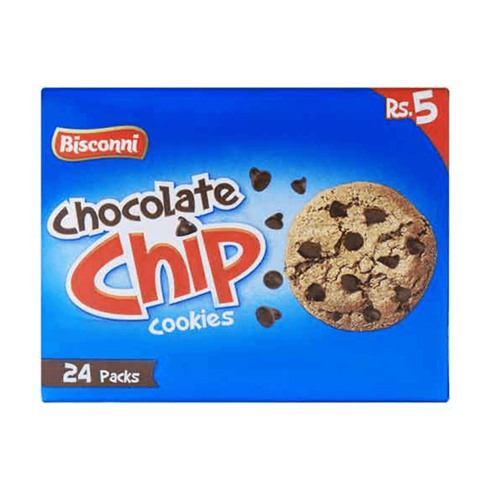 Bisconni Chocolate Chip Cookies 24 Ticky Packs