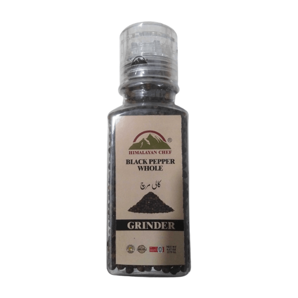Black Pepper Whole With Grinder 175gm
