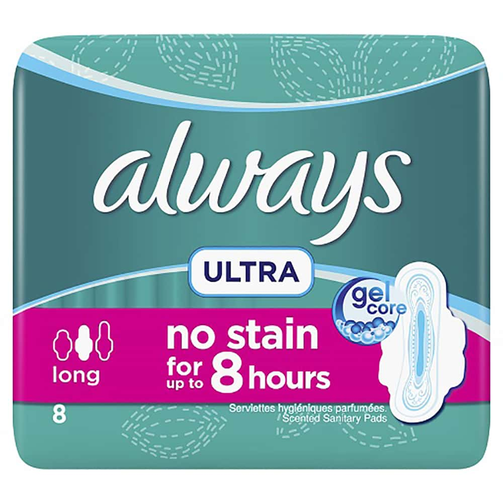 Always Ultra Thin Long Normal 8 Pads