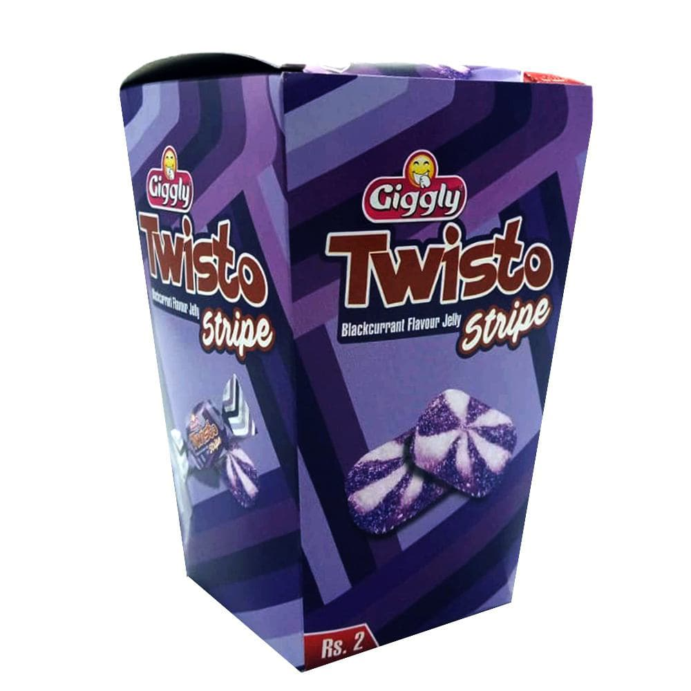 Giggly Twisto Blackcurrant Falvour Jelly 300gm