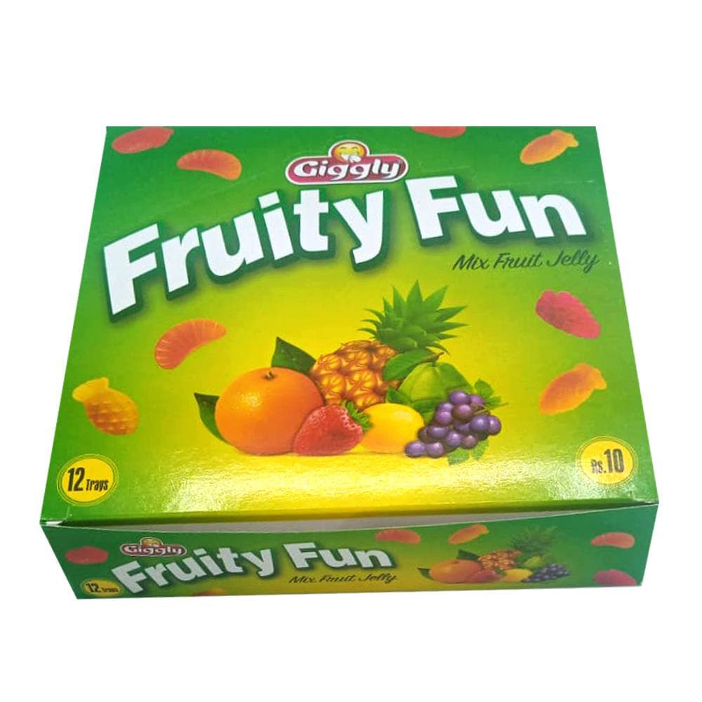 Giggly Fruity Fun Mix Fruit Jelly 12 Trays
