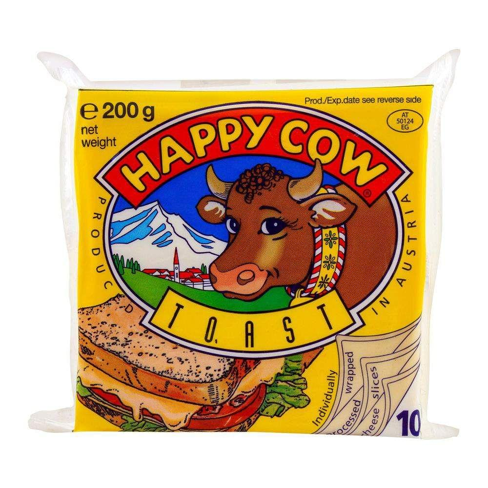 Happy Cow Toast Cheese 10 Slices 200gm