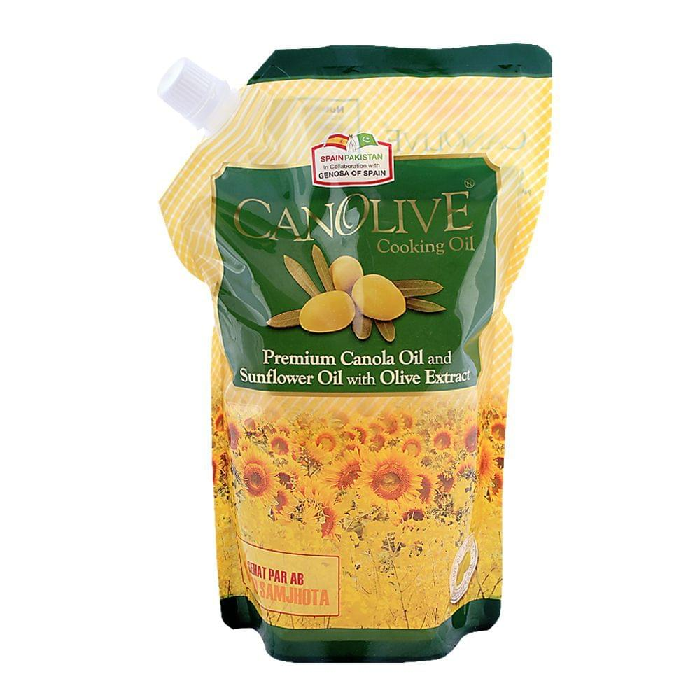 Canolive Premium Canola and Sunflower Oil Stand Pouch 1 L (N.P)