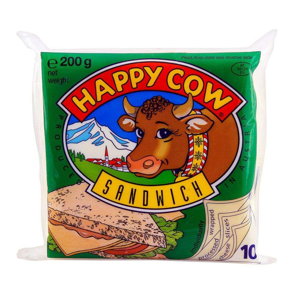 Happy Cow Sandwich Cheese 10 Slices 200gm