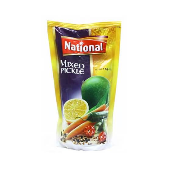 National Mixed Pickle In Oil Pouch 1kg