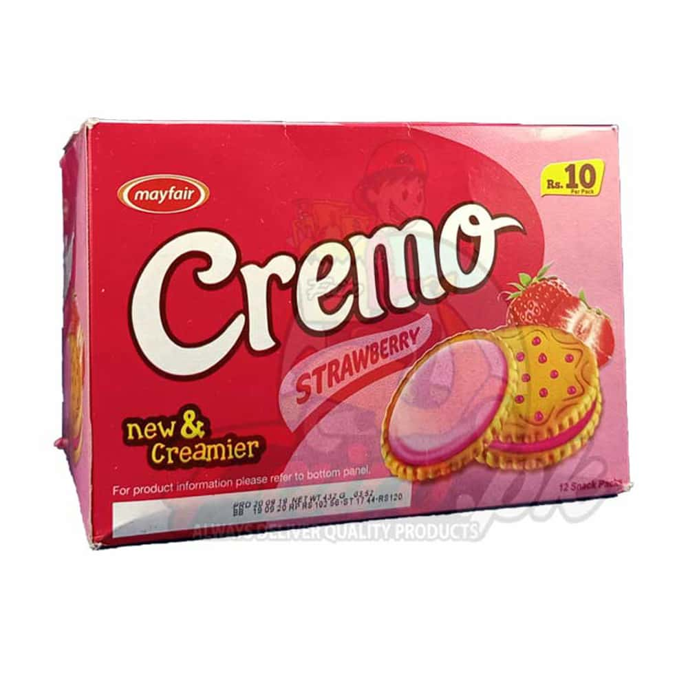 Mayfair Rich Cream Strawberry Biscuits 12 Packs