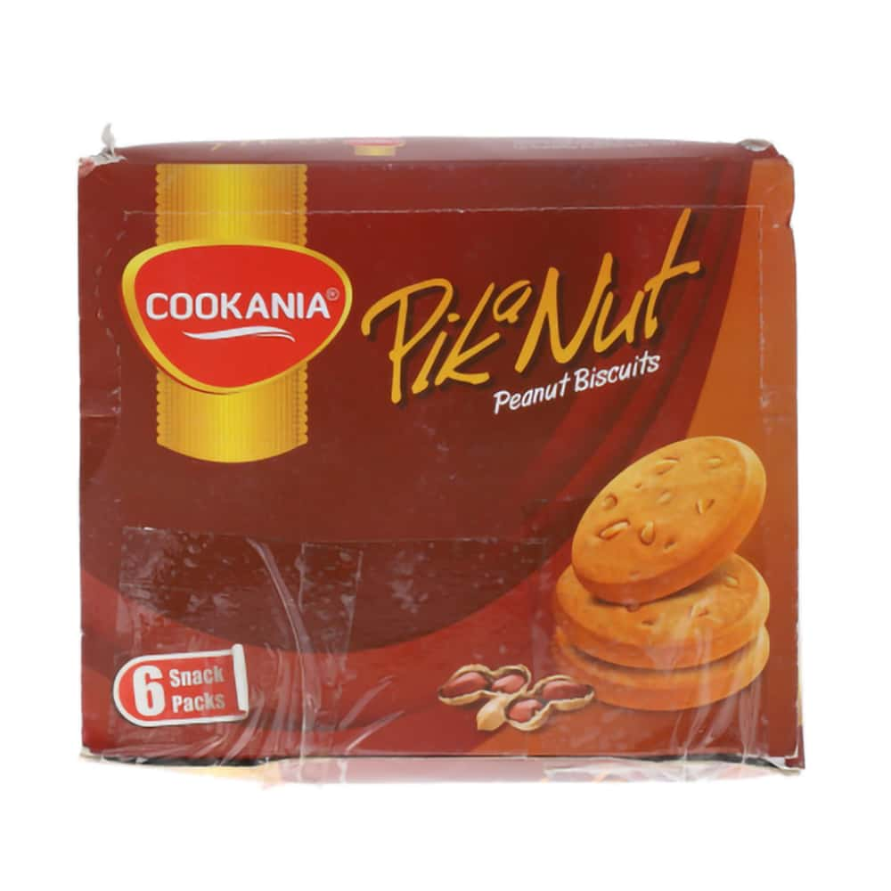 Cookania Pik a Nut Peanut Biscuit Snack Pack 6 Packs