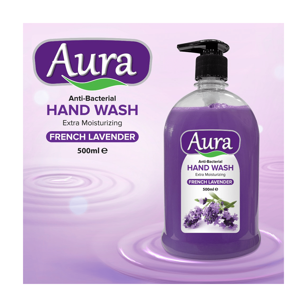 Aura Anti-Bacterial French Lavender Hand Wash 500ml