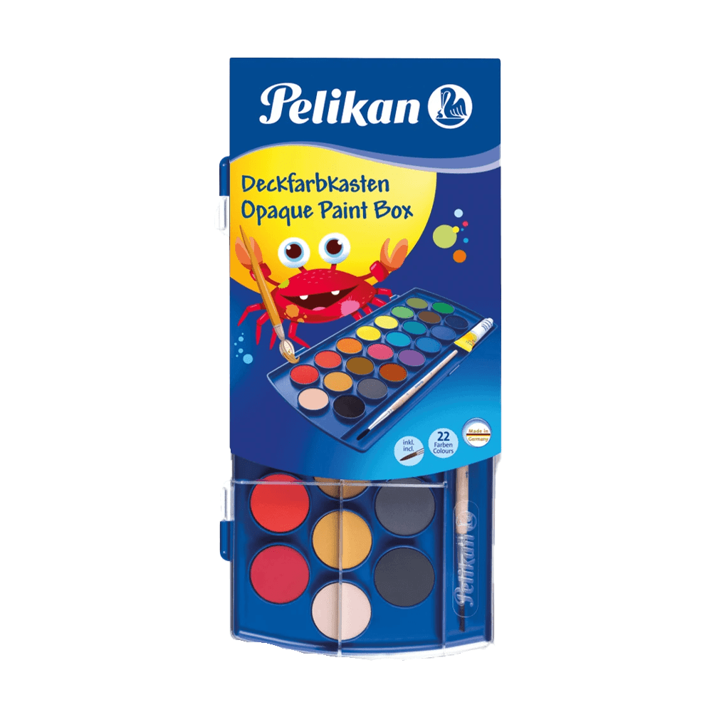Opaque Paint Box with 1 tube of Chinese F455 (22 Farben Colors)