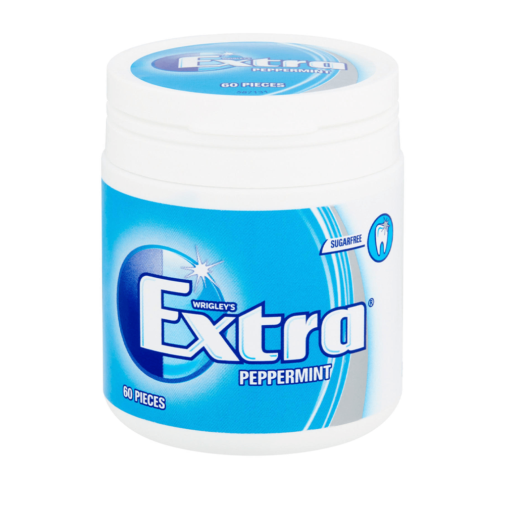 Extra Peppermint Chewing Gum Sugar Free 60 Pcs