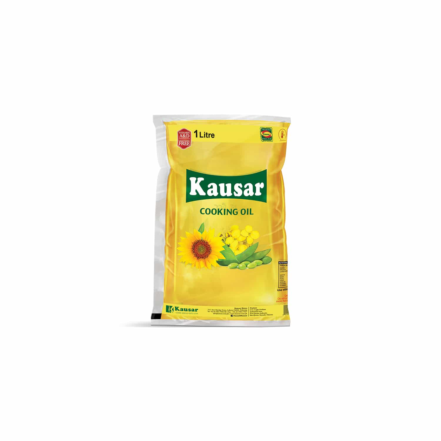 Kausar Cooking Oil Pouch 1 L