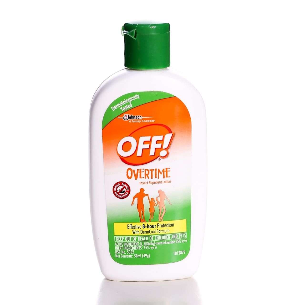 OFF Overtime Insect Repellent Lotion 50ml