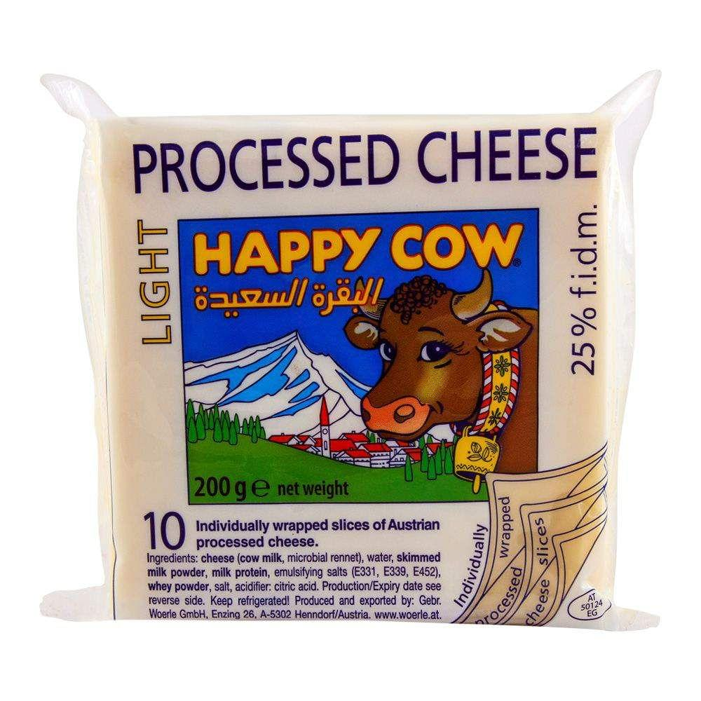 Happy Cow Light Cheese 10 Slices 200gm