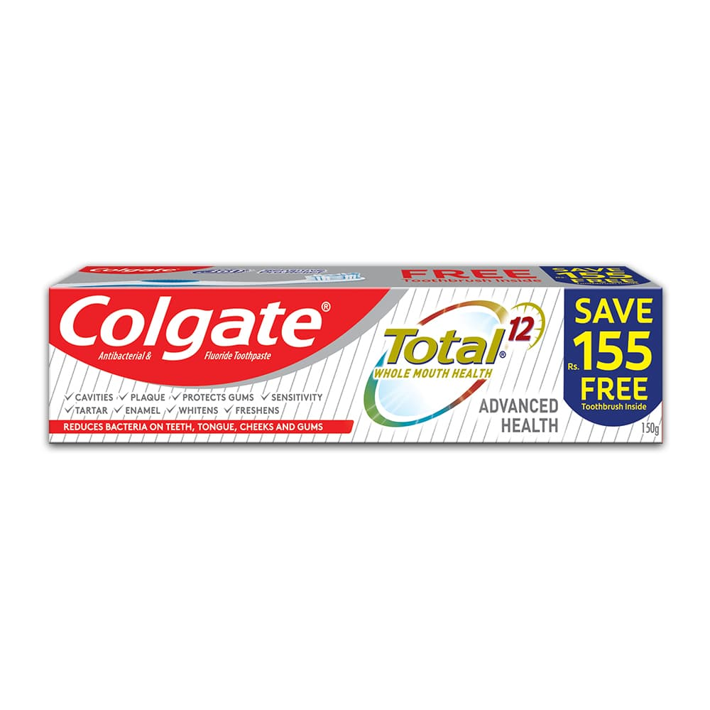 Colgate Total Advanced Health Toothpaste 150g - Brush Pack