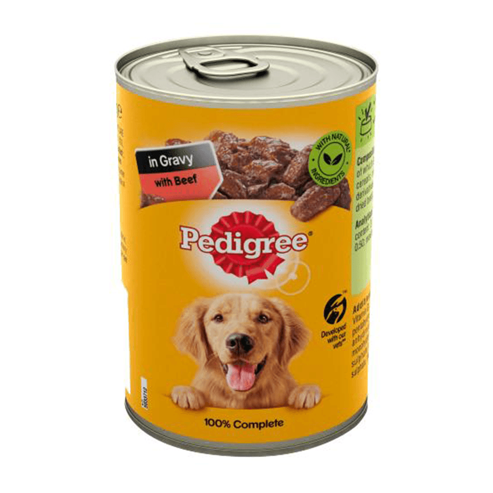 Pedigree In Gravy With Beef Dog Food 400gm